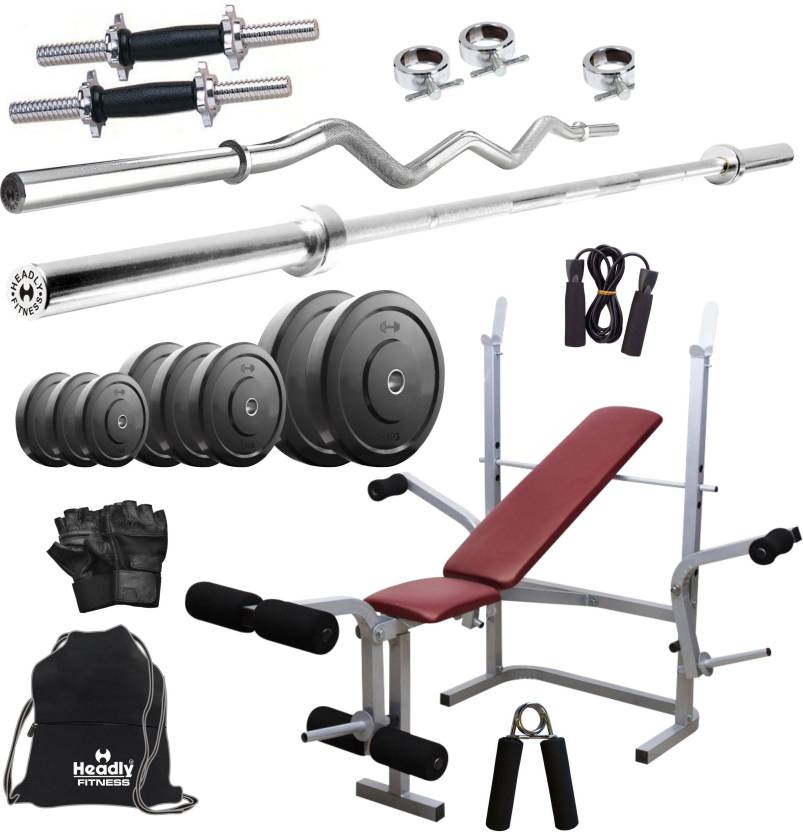 Headly 50 kg combo 8 home home gym kit buy headly 50 kg combo 8