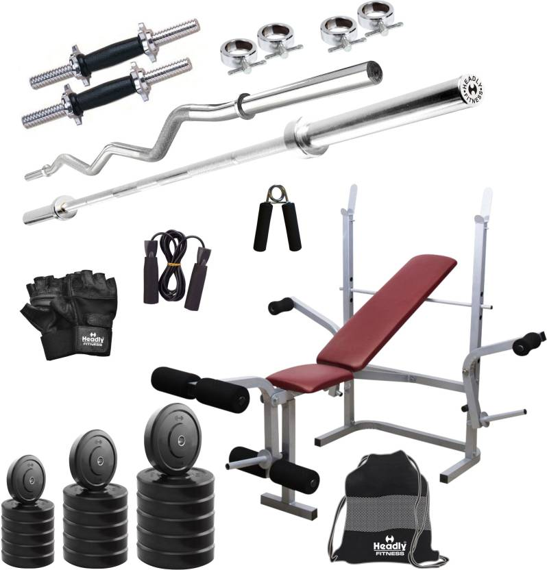 Headly 100 kg Combo BB 8 Convenient Gym & Fitness Kit