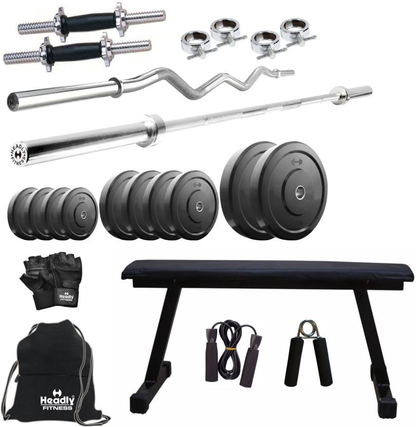f61985c9304 Headly 40 kg Combo 7 Home Home Gym Kit - Buy Headly 40 kg Combo 7 Home Home  Gym Kit Online at Best Prices in India - Home Gym