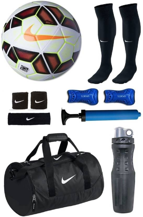 Retail World Premier League Red White Football (Size-5) Combo Football Kit 531e0ec0d