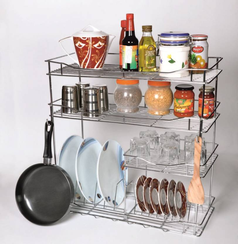 Home Maker Bartan Rack Stainless Steel Kitchen