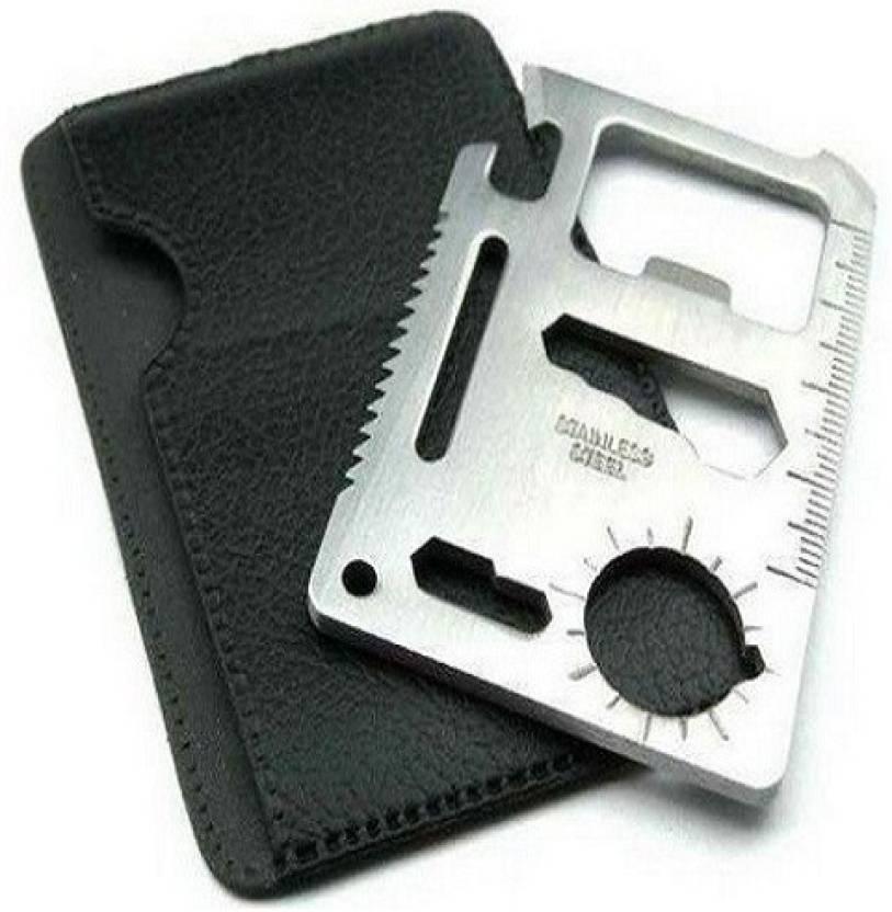 Protos 11 in 1 pocket visiting card survival kit multi tool buy protos 11 in 1 pocket visiting card survival kit multi tool colourmoves