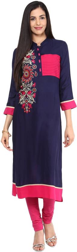 Prakhya Embroidered Women's Straight Kurta