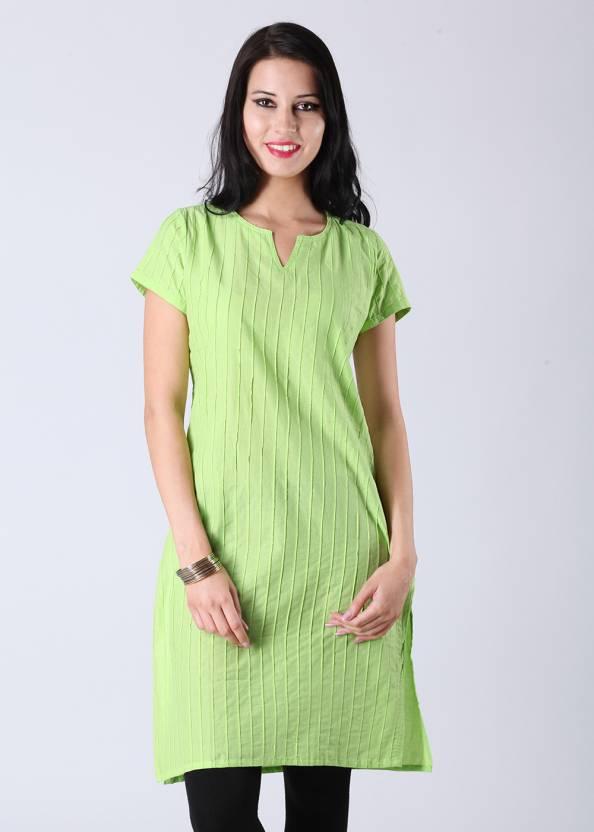9353620aab3 Vishudh Women s Solid A-line Kurta - Buy Green Vishudh Women s Solid ...