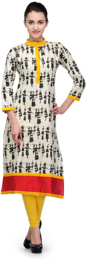 Cenizas Printed Women's Straight Kurta