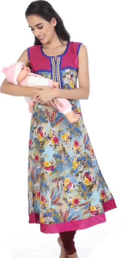 b31cef306e DE'MODA Casual Printed Women's Maternity Wear Kurti - Buy MultiColor ...