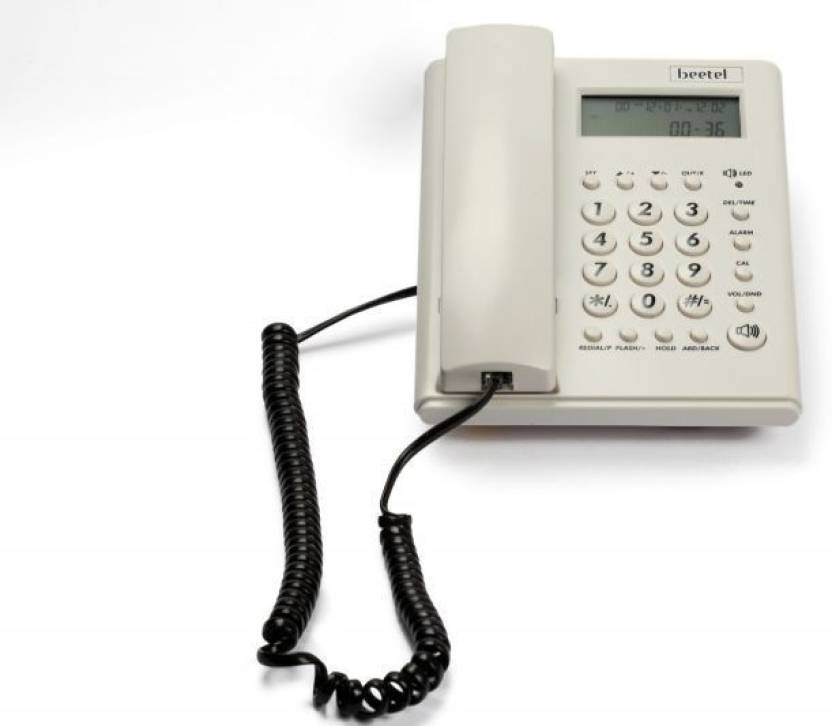 Beetel M 53 Corded Landline Phone (Warm Grey)