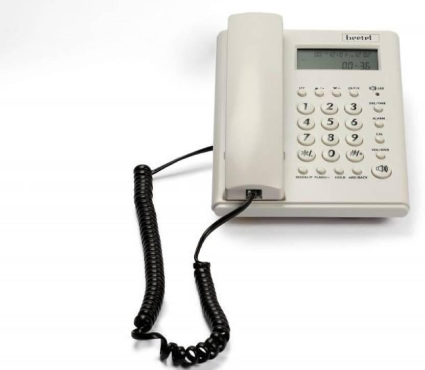 Beetel M 53 Corded Landline Phone (Warm Grey)