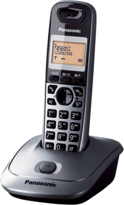 Panasonic KX-TG3551SXM Cordless Landline Phone (Metallic)
