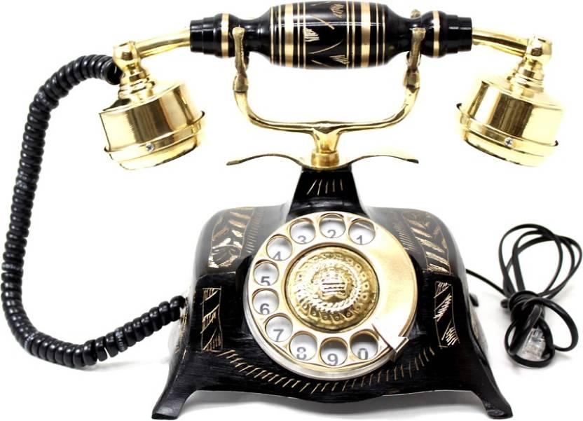 artondoor table maharaja brass telephone square carved corded