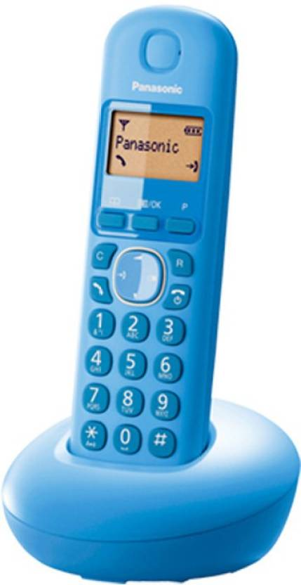 panasonic PA-KX-tg210 Cordless Landline Phone (BLUE)