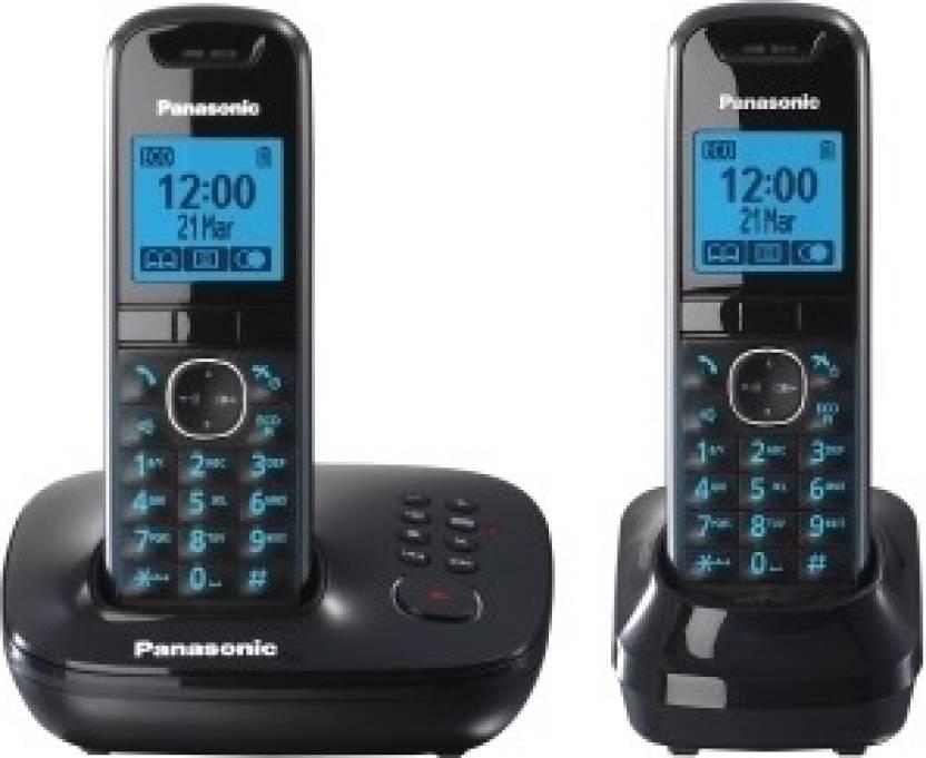 Panasonic KX-TG 5522 Cordless Landline Phone (Black)