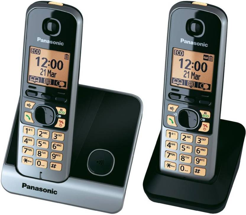 Panasonic KX-TG6712CX Cordless Landline Phone (Black, Silver)