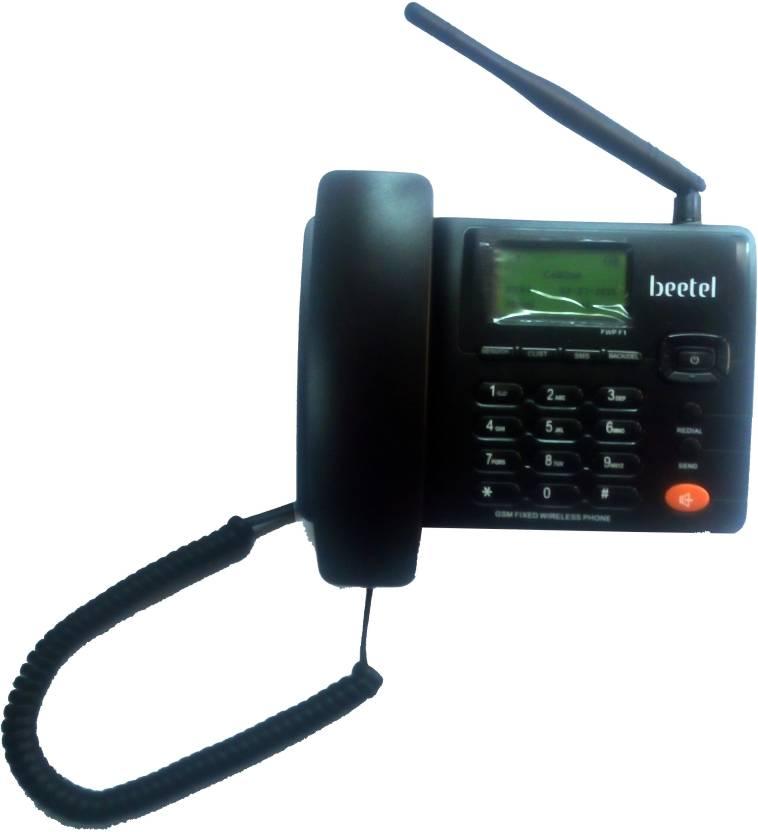 Beetel F1 FWP Corded Landline Phone (Black)