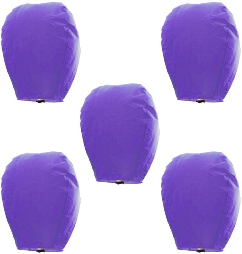 Kaarigar Sky Lanterns Purple Paper Sky Lantern