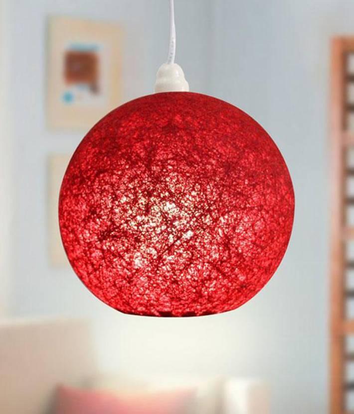 Skywoods Red Nylon Table Lantern 20 cm X 20 cm, Pack of 1