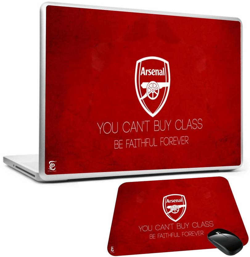 45a501645bc92 PRINT SHAPES arsenal you cant buy laptop skin with mousepad Combo Set  (Multicolor)