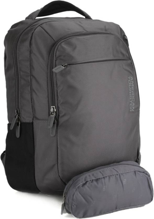 American Tourister 15 inch Laptop Backpack Grey - Price in India ... 3627de6a6e