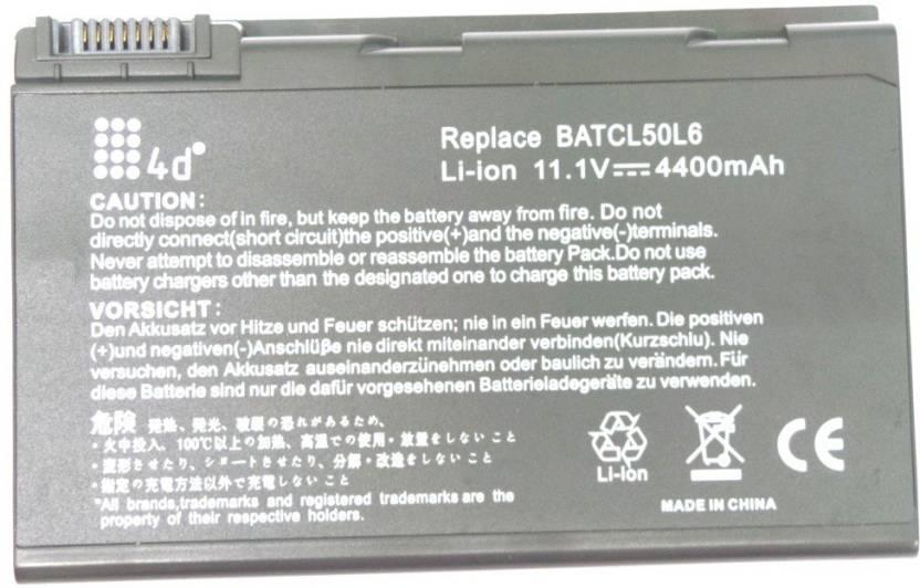 4D Acer Aspire 5610AWLMi 6 Cell Laptop Battery