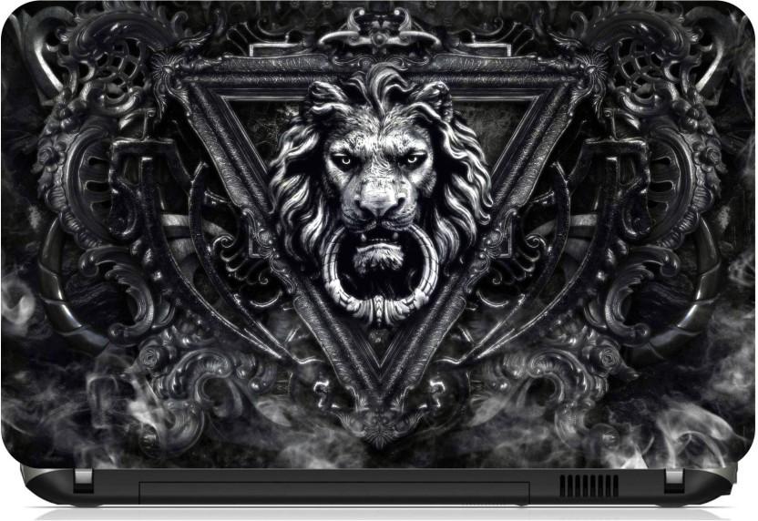 Attirant Psycho Art Lion Door Knock Vinyl Laptop Decal 15.6