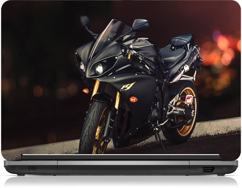 brandpro yamaha yzf r1 sport bike skin 14 1 inch vinyl laptop decal