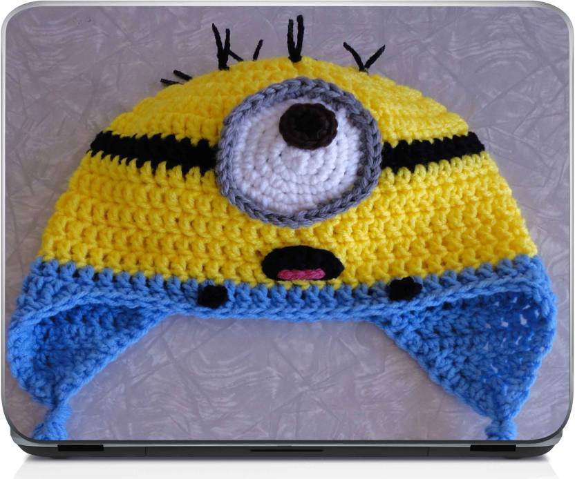 Shopnonline Crchet Minion Hat Vinyl Laptop Decal 156 Price In India
