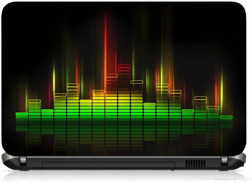 VI Collections MUSIC EQUALIZER PRINTED VINYL Laptop Decal