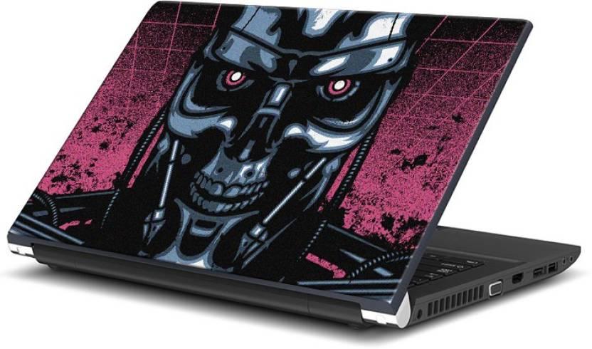 FannZila Terminator Robot Vector Art Vinyl Laptop Decal 15 6