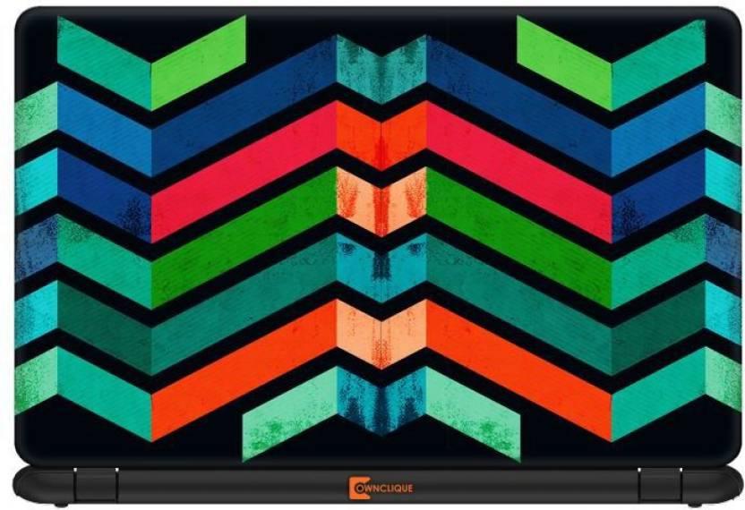 Ownclique Geometric Pattern Art Vinyl Laptop Decal 15 6