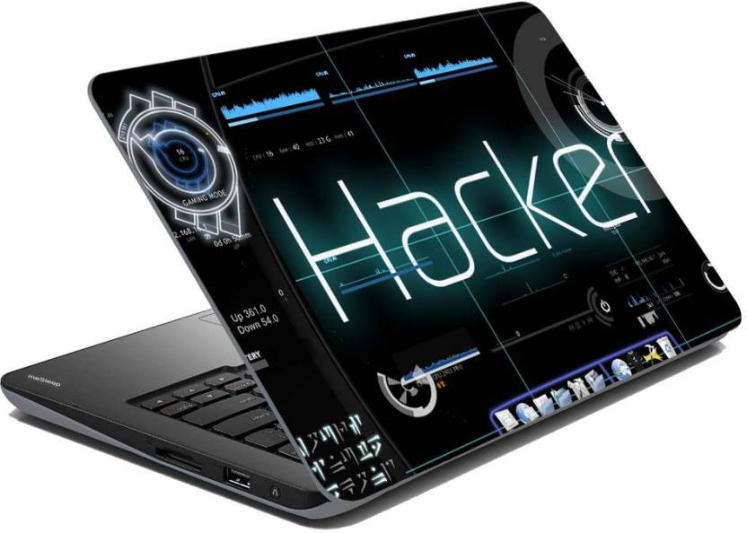 meSleep Matrix Hacker Vinyl Laptop Decal 15.6