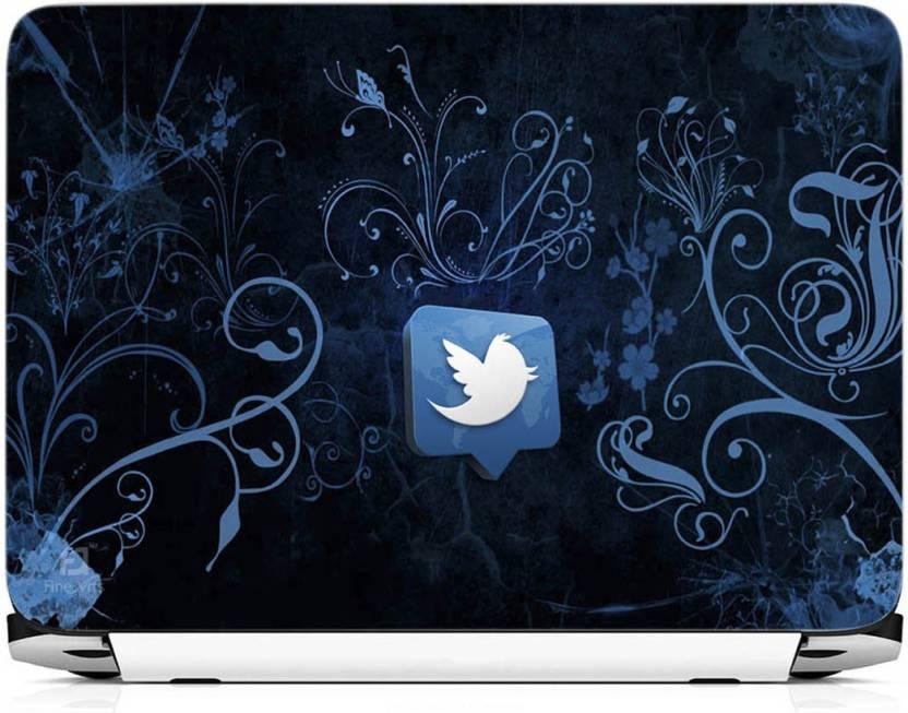 Finearts Twitter Blue Wallpaper Vinyl Laptop Decal 15 6