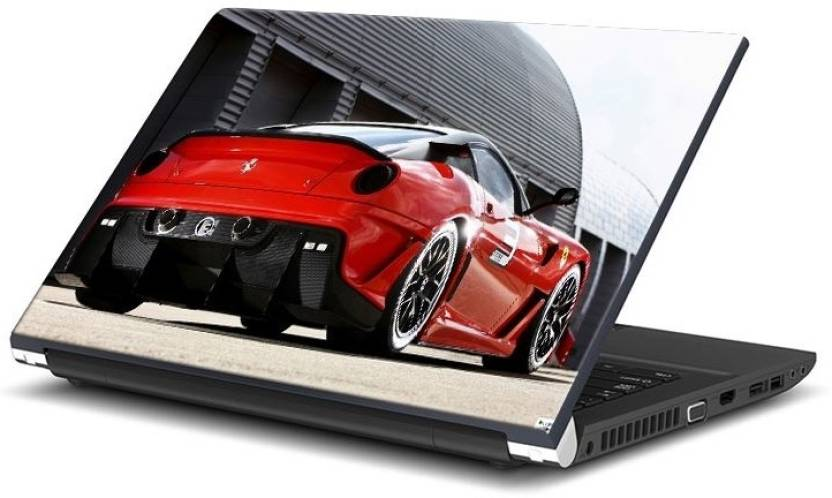 Imerch Red Sexy Luxury Car Vinyl Laptop Decal 15 6 Price In India