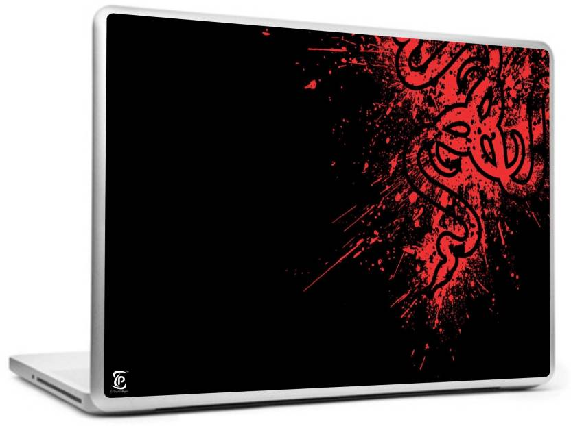 print shapes red razer logo vinyl laptop decal 15 6 price in india