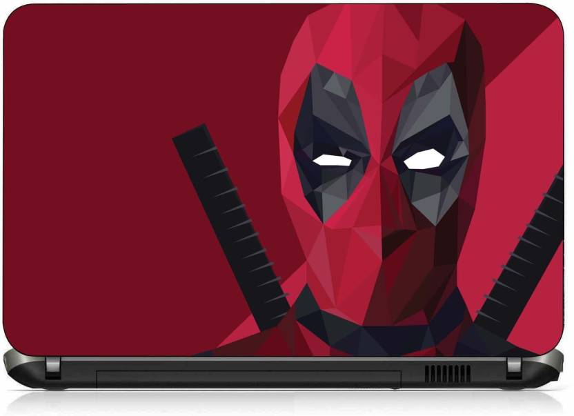 VI Collections RED COLOR MASK pvc Laptop Decal 15.6
