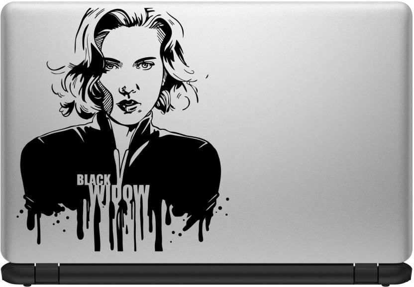 Decor Kafe Black Widow Laptop Sticker Self Adhesive Vinyl