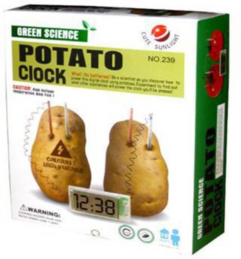 Cute Sunlight Green Science Potato Clock Kit