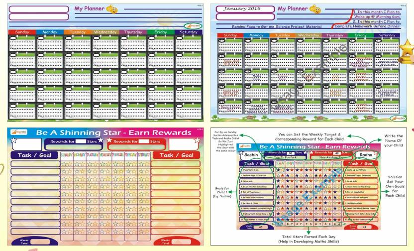 stepstodo reward chart monthly planner inculcate good habits