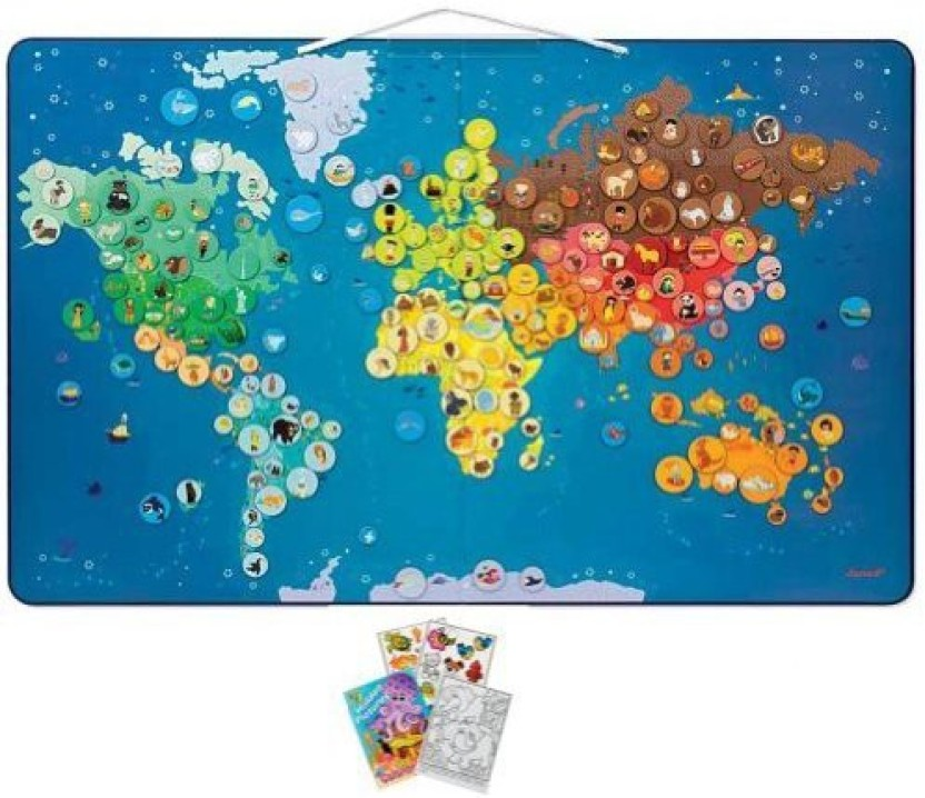 Animals for animals magnetic world map animalsmix download image gumiabroncs Gallery