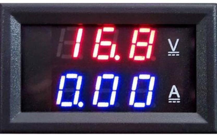 3 Digit DC 0-100V 50A//100A Voltmeter Ammeter Gauge Dual LED Digital Voltage Current Panel Meter Red /& Red-10A
