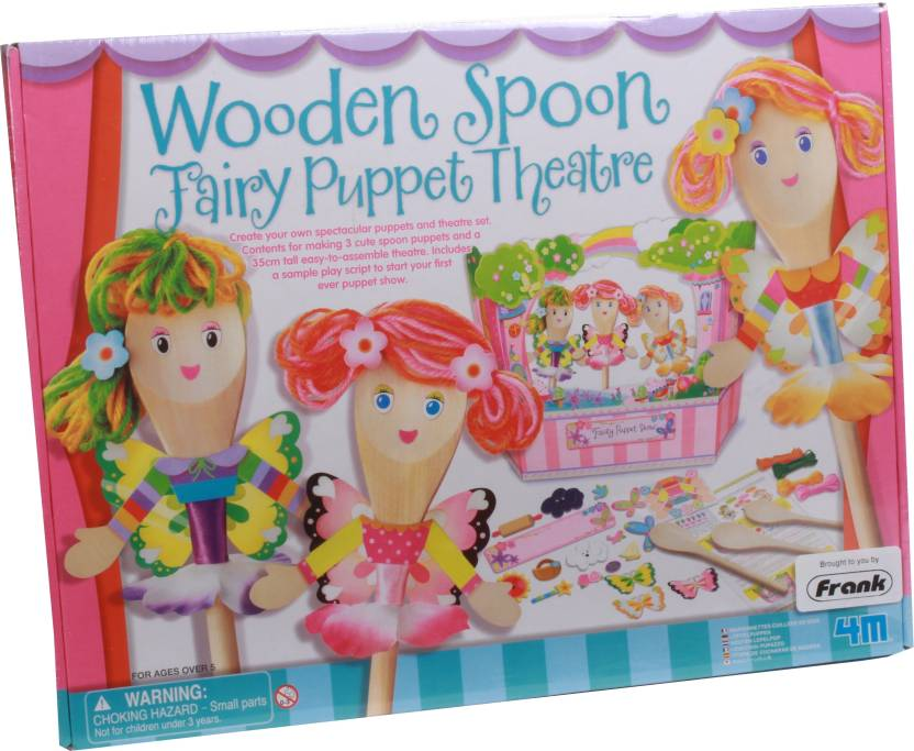 4M Wooden Spoon Fairy Puppet Theatre Price in India - Buy 4M Wooden