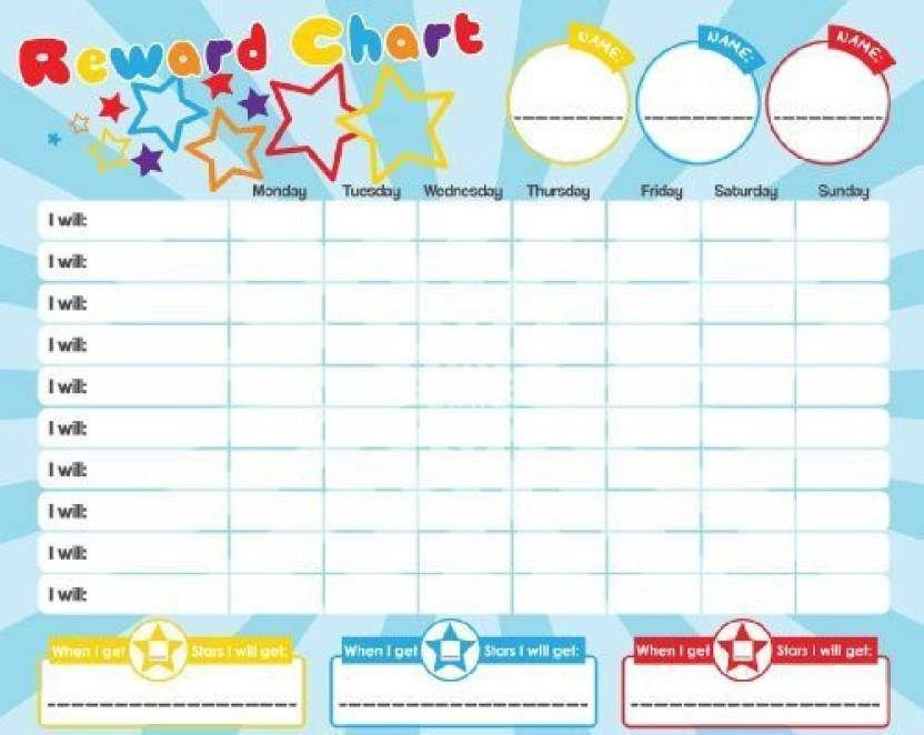 Apex Homeware Magnetic Reward Star Chart For Motivating Children Durable Board Multicolor