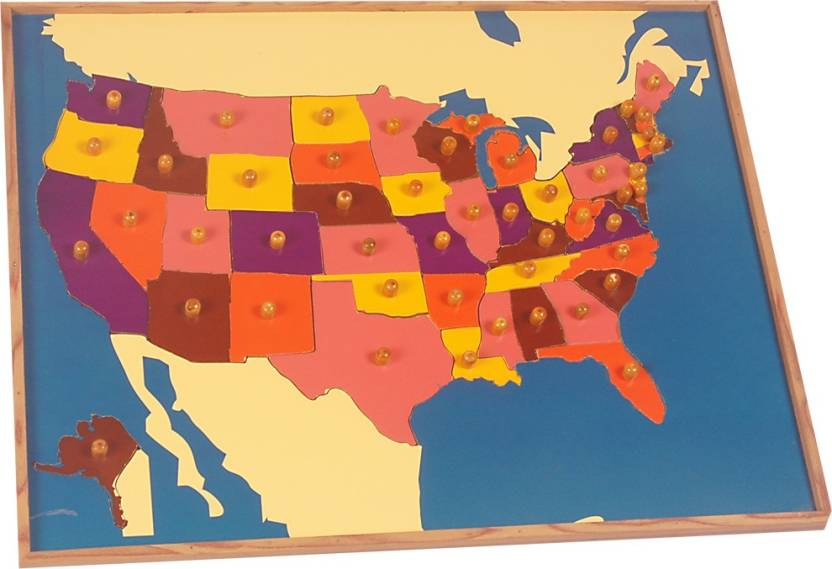 Kidken Montessori Map Puzzle: USA Price in India - Buy ...