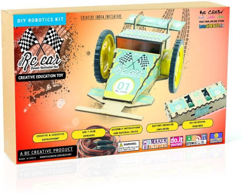 Be Cre8v Wired RC Car Robotics DIY Kit