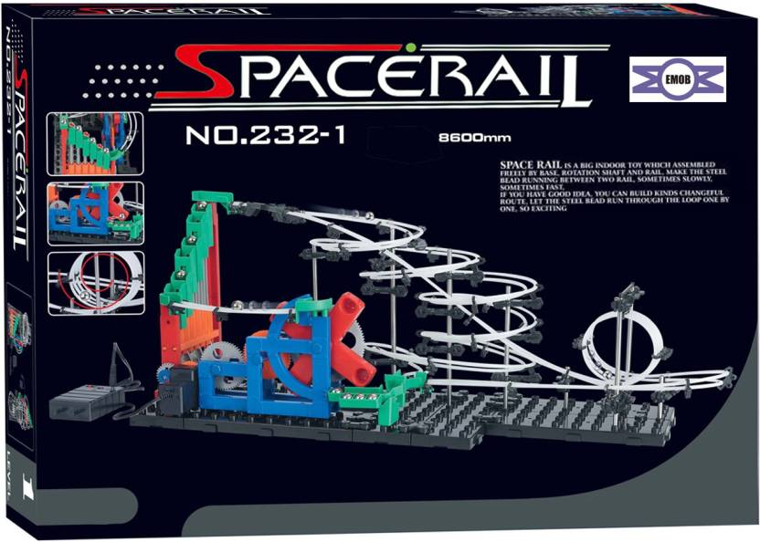 Emob SpaceRail with steel 8600 mm long balls endless game