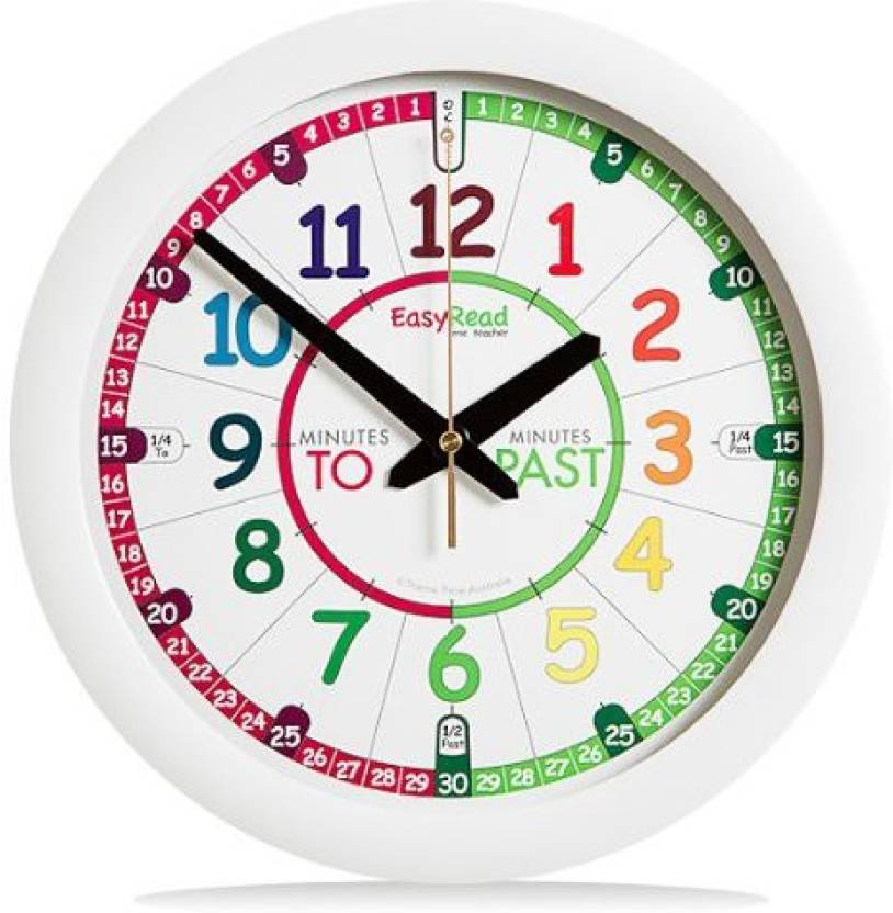 Easyread Time Teacher Childrens Wall Clock With Simple 3 Step