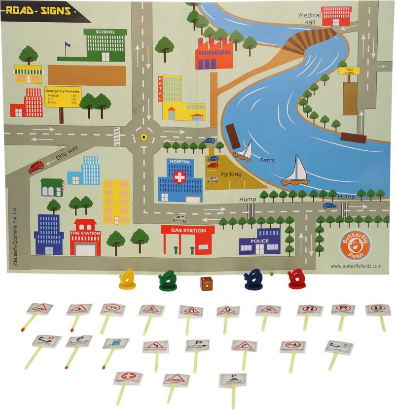Butterfly FIelds Road Signs - Science Project Kit, Science Workbook