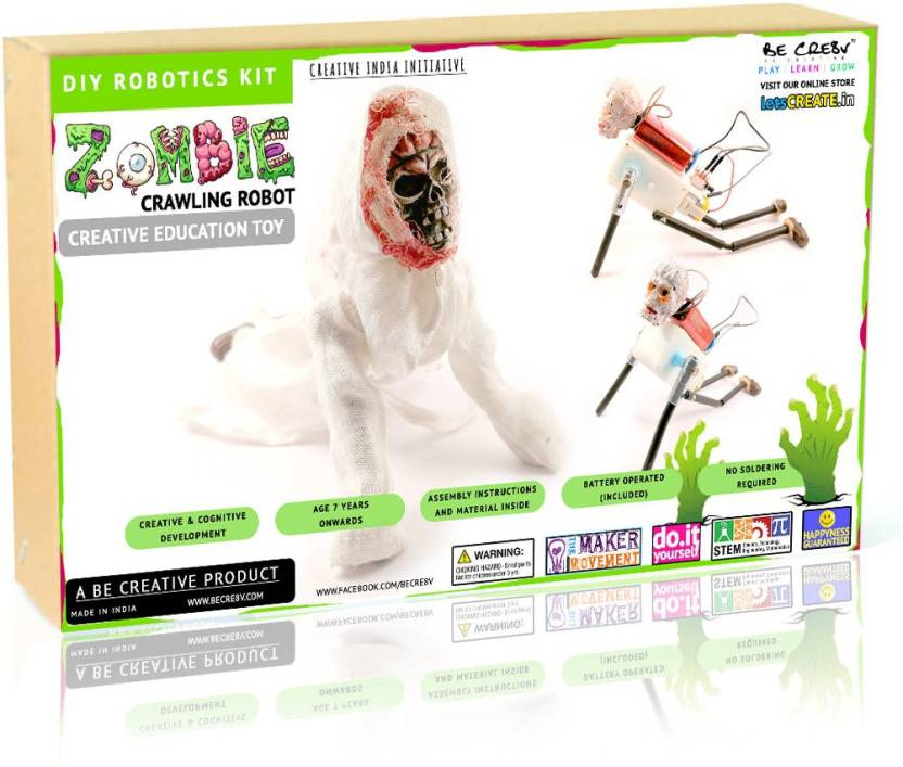 Be Cre8v Zombie Crawler DIY Robotics Kit