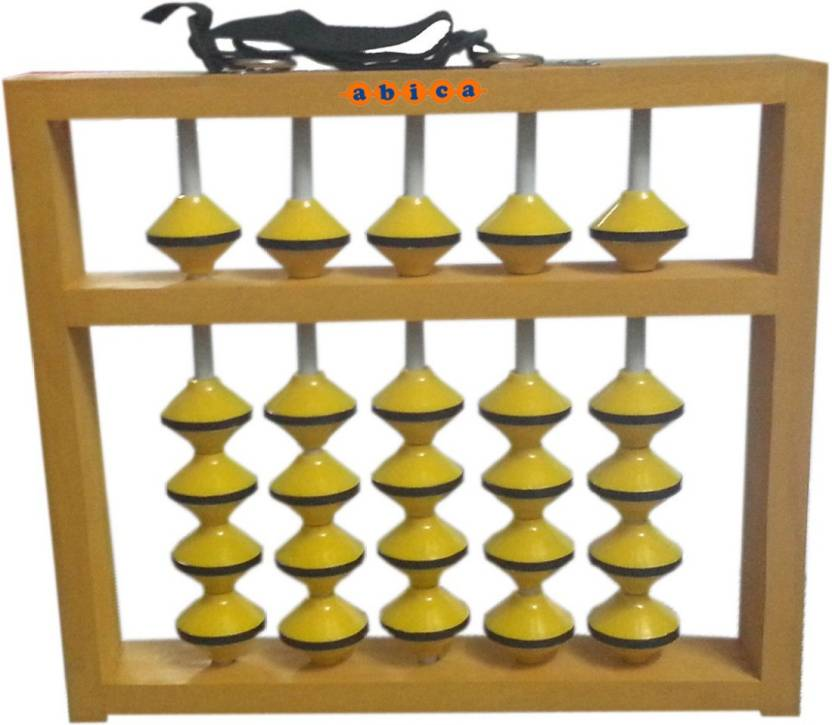 Abica Teacher Abacus math learning kit 5 Rod Wooden Yellow Beads ...