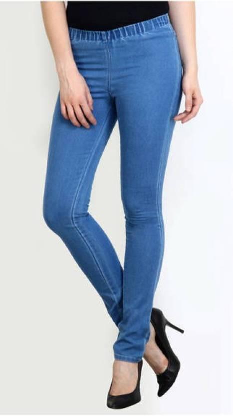 3f673907a2e99 Kangaroo's Jeans Women's Light Blue Jeggings - Buy Mid Blue Kangaroo's  Jeans Women's Light Blue Jeggings Online at Best Prices in India    Flipkart.com