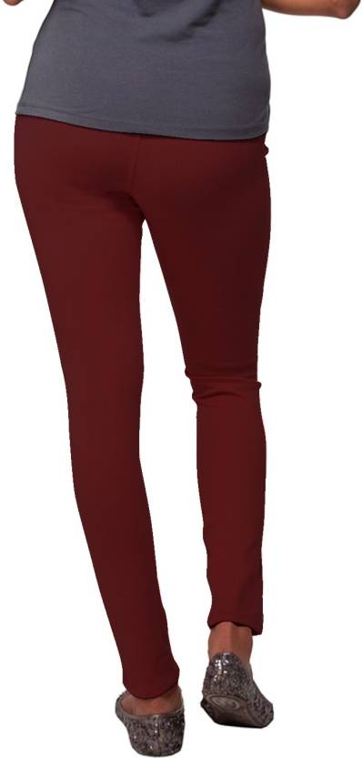 Go Colors Maroon Jegging Price In India Buy Go Colors Maroon